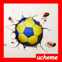Uchome Wall Decor 3D Night Light Football 3D DIY LED Night Light with DIY Wallpaper for Bedroom Living Room, Random Delivery
