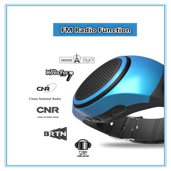 Nouveau B90 Montre Smart Watch Sport Bluetooth Haut-Parleur Mains Libres Appel TF Carte À Jouer FM Radio Auto-minuterie Sans Fil haut-parleurs Affichage de L'heure