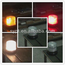 12v multi-color led rotating beacon light,one beacon with 3 flashing color