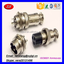 Customize stainless steel 3 pin female and male connector bmw