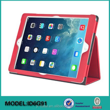 New arrival bookstyle leather case for iPad air 2 ,leather case for iPad 6