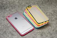 Pc Bumper Soft Clear Transparent tpu Mobile phone case For Apple Iphone 6 6 Plus