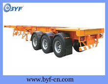 Container Transport 3 Axles Skeleton Frame Truck Trailer