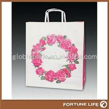 Caliente venta promocional de alta calidad regalo bolsa de papel con asas