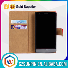 Custom cell phone wallet leather pouch flip case for nokia lumia 625