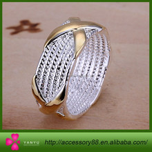 925 Sterling Silver Ring Fine Fashion Color Separation X Silver Jewelry Ring Women&Men Gift Finger Rings