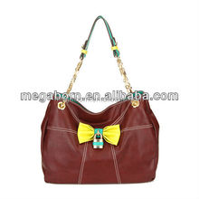 Hot Selling Cheap Bow Knot Lady Handbags Brands