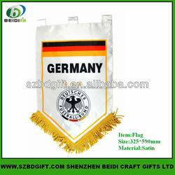 Custom printing Sports Team Pennant Soccer Pennant flags