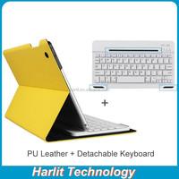 OEM Customize Leather Case Detachable Bluetooth Keyboard For iPad4 Removeable Bluetooth Keyboard With Leather Case For iPad 4