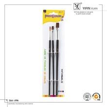 Hot Selling 3Pcs Silver Color Ferrule Nylon Bristle Paint Brush