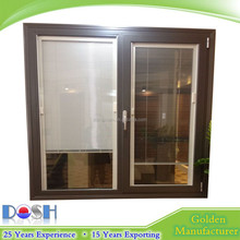Alumnium opening window hollow glass with magnetic blind
