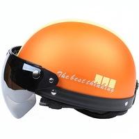 high quality orange color dot standard helmet