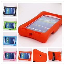 kid proof silicone kids 7 inch tablet case,for samsung galaxy tab 3 p3200