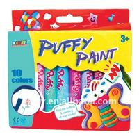 10-color bright puffy paint for kids