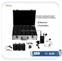 Professional Tour Guide Simultaneous Interpretation Equipment for 6 language translation with clear voice