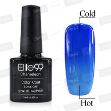 Elite99 10ml Best UV Chameleon Temperature Change Color Tips Professional Changeable Color UV Nail Gel Polish Builder 5715