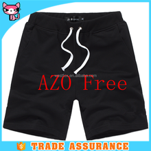 Pure black casual shorts for men