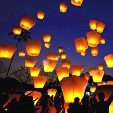 Chinese fireproof paper fire balloon