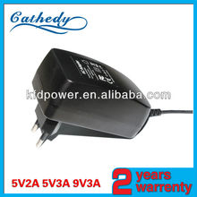 Wall plug-in ac/dc switching power led lights adapter and power supply