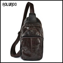 Low price high quality mens leather cross body chest bag