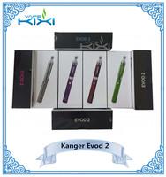 wholesale e-cigarette kangertech Evod 2 Starter Kit with kanger evod2 atomizer from kixivaope Authorized & Full stock!!