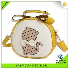 North Amercia small embossed cartoon cat cylinder hand bag