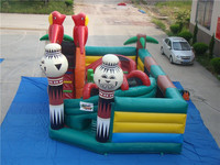 funny doll inflatable city/castle?combo for kids