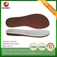 latest design two color casual rubber+pu shoe sole