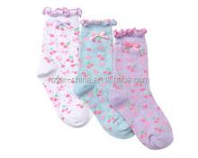China socks factory OEM SERVICE 100% cotton Pretty girl fancy lady custom made desgin socks