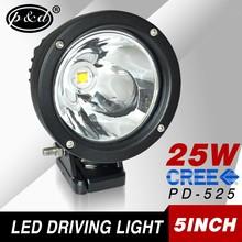 12v 25w 5 inch round cre e led Spot beam car led driving lights