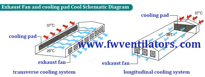 wall mounted exhaust fan and cooling pad cooling system