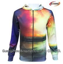 100% Polyester Sweatshirt Zip Up Hoodie