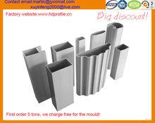 Barandilla de aluminio de extrusión de perfiles