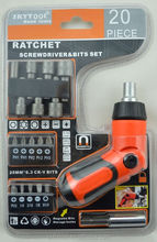 19 -in-1 angle adjustable Screwdriver with crv bits&sockets set