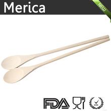 wooden spoon, salad spoon, long handle spoon