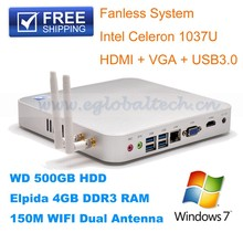 Bottom bulk seelling , Mini Desktop PC with Intel C1037U ,4*USB 3.0, 1080P, 8GB RAM 128GB SSD, WiFi, Bracket Mount