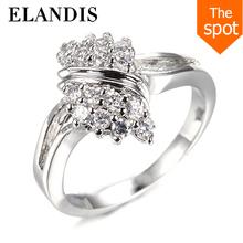 ELANDIS yiwu wedding ring fashion jewelry diamond silver ring