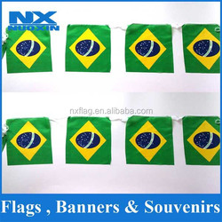 good quality decorative hanging mini soccer team pennant flag string bunting flag