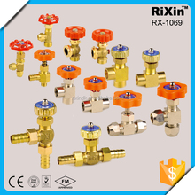 """RX 1069 1/4""""3/8"""" oil gas water small needle valve pet preform mold factory directly needle valve made in china c.s /cs/casting"""