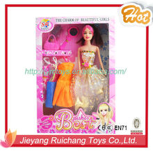 OEM&ODM plastic doll/dress-up dolls with beautiful make-up face/fashional dresses