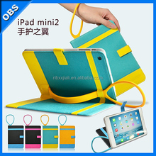 portable pu leather case for ipad mini with stand dormant function