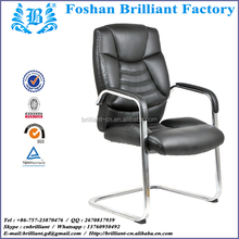 Puffy Guest Chair with Unique Design Durable Metal Frame in Chrome Finished BF-8865A-3
