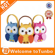 Cute colorful santa decorations gift bags for kids owl christmas ornament