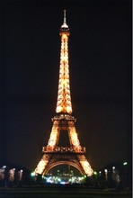 HOT! 2015 lastest Eiffel Tower canvas printing painting with led light for holiday gift cheap china factory wholesale