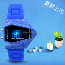 Trendy LED Watch Silicone Pilot Led Watch