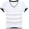 dri-fit breathable V-Neck men 100% cotton custom t-shirts factory price for wholesale