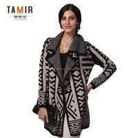 Womens Elegant 100% Cashmere Knitted Coat