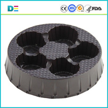FDA custom made bliste tray round design plastic tray customized round compartment blister food packaging tray high quality