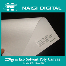 220g Indoor / Outdoor Polyester Inkjet Canvas With Eco-solvent