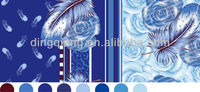 feather design 100% polyester taffeta print fabric from the silk mansion for European,India,Vietnam